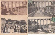 Lot 4 cartes postales anciennes MORLAIX le viaduc