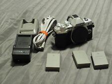 Olympus OM-D E-M10 MARK III (3) Digital Camera Silver (Body Only) + 3 Extra Batt