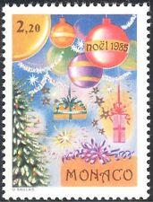 Monaco 1985 Christmas/Greetings/Tree/Decorations/Baubles 1v (n43741)