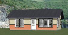 30x24 House -- 1 Bedroom 1 Bath -- 720 sq ft -- PDF Floor Plan -- Model 2K