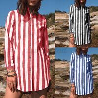 Bluse Tunika Longbluse Streifen Fischerhemd Leinen Optik gelb 42 44 46 48