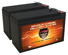 QTY 2: VMAX63 12V 10AH AGM SLA Battery for Razor E300, E200, MX350, Dirt Quad