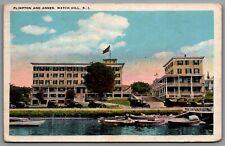 Postcard Watch Hill Cove RI c1924 Plimpton House and Plimpton Annex Hostels