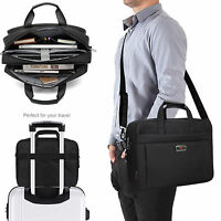 Expandable Large Capacity Business Briefcase Messenger Bags Crossbody for Men CA
