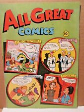 All Great Comics 1 RARE HIGH GRADE 1946 FOX FEATURE VF+ WHITE PAGES Golden-Age