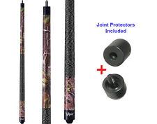 Viper Realtree Green Camo 50-9005 Pool Cue Stick 18-21 oz & Joint Protectors