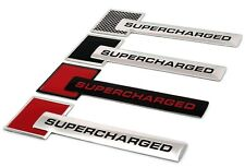 Red Turbo Charger SUPERCHARGED Engine Emblem Badge Sticker For J#L
