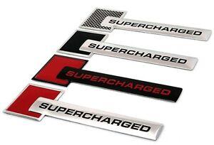 1 x Turbo Charger SUPERCHARGED Engine Emblem Badge Sticker For Jaguar Land Rover