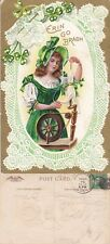 1910 ERIN GO BRAGH - IRELAND FOREVER COLOUR POSTCARD USED IN UNITED STATES