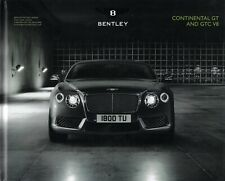 Bentley Continental GT GTC V8 2013 • Hardcover Brochure Book 118 pages • NEW