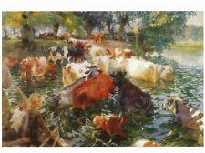 Postcard Emile Claus Cows Crossing the Leie MINT Unused