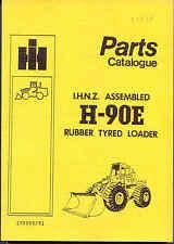 IHC H-90E Rubber Tyred Loader IHNZ assembled parts book 1981 original