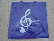 "MUSIC Tote Bag Nylon PURPLE 14"" X 13"" Great Music Gift Students/Teachers NEW"