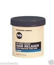 TCB No Base Cream Hair Relaxer 15oz Jar - Super