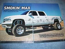 2002 Chevy Silverado 2500HD Duramax Diesel Article 'Smokin Max' Sled Puller