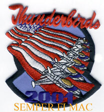 2001 THUNDERBIRDS US AIR FORCE PATCH F-16 FALCON USAF AIRSHOW NELLIS AFB PILOT