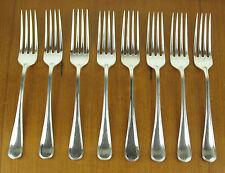 "8 x Dinner Forks 7 5/8"" Birks Regency Plate York silverplate silver"