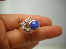 STUNNING 14KT W/G MEN'S BLUE STAR & DIAMOND RING G84478