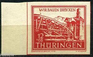 SBZ 12 Pfg. Brückenbau 1946** Sonderdruck Michel 113 S (S8791)