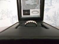 COLORLESS DIAMOND 18K WHITE GOLD RING .50 CT TW 5 Round BRILLIANT MACRO REPORT