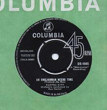 EARTHA KITT an englishman needs time*little white lies 1963 UK COLUMBIA 45