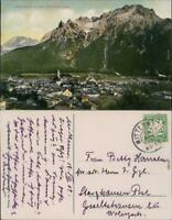 Ansichtskarte Mittenwald Panorama, Karwendelgebirge 1909