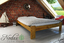 *NODAX* Pine Double Size 4ft6in Wooden Bed frame&Slats No.F15 *Wooden Furniture*