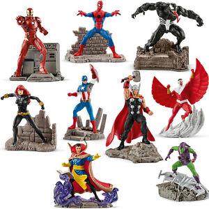 Schleich Marvel Iron Man Spider-Man Captain America Venom Thor Falcon NEU