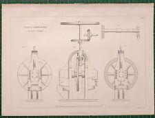 1855 LOCOMOTIVE PRINT PUNCHING & SHEARING MACHINE SIDE ELEVATION RAIL TRAIN