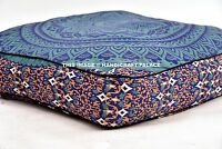 """Ombre Mandala Indian Floor Pillow Cover Ottoman Pouf Outdoor Dog / Pets Bed 35"""""""