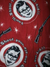 CHRISTMAS STORY PAJAMA PANTS Lounge BB Gun Shoot Your Eye Out 80s Movie Ralphie