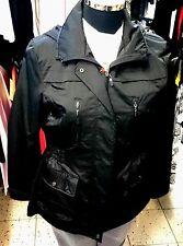Jacke-Damen Nickel Fashion, Gr.42,Taillenzugeinsatz Gürtel hinten Netzfutter