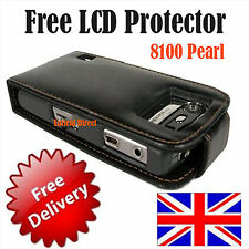 New Leather Case For Blackberry 8100+Free LCD Protector