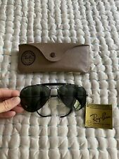 Ray Ban Bausch & Lomb Aviator Vintage Sunglasses Black 58-14