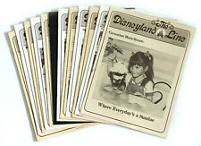 Vintage Disneyland Line Cast Weekly Newsletter Issues 1978 - You Pick