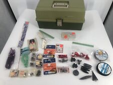 Vintage Plano 6300N 3-Tray Fishing Tackle Box With Lures Weights And More