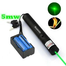 5mw 532nm Military Powerful Green Laser Pen Dog Toy Laser Pen+ Battery + Charger