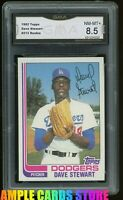 1982 Topps #213 Dave Stewart RC Rookie Graded GMA 8.5 NM-MT+ ~ COMP TO PSA 8.5