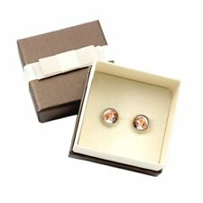 English Pointer. Pet in your ear. Earrings with box. Photojewelry. Handmade. Ca
