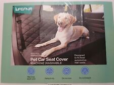Lifefair Back Seat Covers for Dogs, 100% Waterproof Dog Car Seat Cover with Mesh