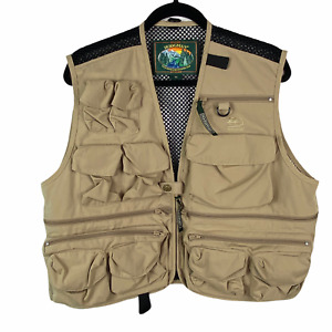 Hodgman Fly Fishing Hiking Vest Tan Khaki Mens sz  M Medium Mesh Lining