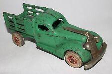 1930's Arcade Large Cast Iron Pontiac Stake Truck, Original