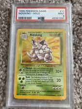 New listing pokemon nidoking holo psa 9 base set unlimited