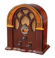 Vintage Wooden Tube Radio Cathedral Antique Transistor AM FM Retro Portable Old