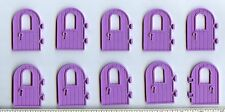 LEGO x 10 Medium Lavender Door 1 x 4 x 6 Round Top with Window and Keyhole