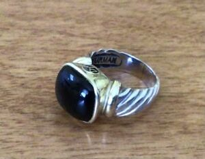 Black onyx Nobelesse 12 x14 Ring
