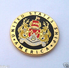 USS AMERICA  UNITED STATES SHIP Military Veteran US NAVY Hat Pin 15547  HO