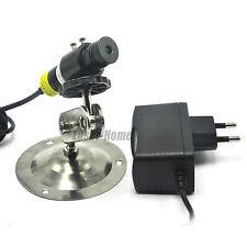 Focusable 405nm 100mW  Blue/Violet Dot Laser Diode Module w/ 5V Adapter & Holder