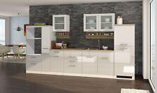 Küchenzeile ohne Geräte Einbauküche ohne Elektrogeräte 360 cm hochglanz weiss