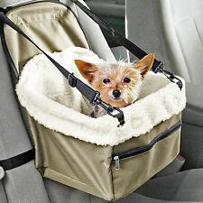 Folding Pet Dog Cat Puppy Car Seat Safety Belt Cover Booster Travel Carrier Bag